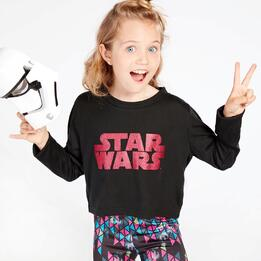 Camiseta Star Wars Niña Negra (10-16)