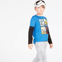 Camiseta Star Wars Azul Royal Niño (2-8)