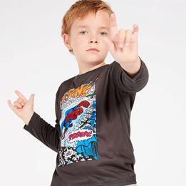 Camiseta Marvel Gris Oscuro Niño (2-8)