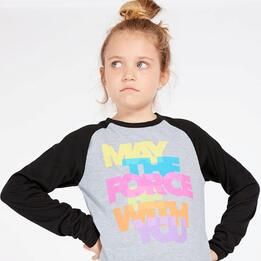 Camiseta Star Wars Gris Niña (10-16)