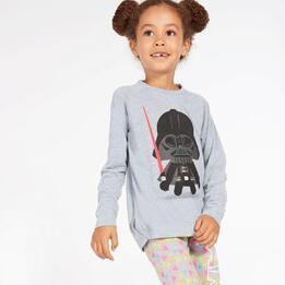 Camiseta Star Wars Gris Claro Niña (2-8)