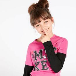 Camiseta Mickey Fucsia Niña (10-16)