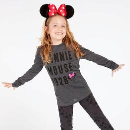 Camiseta Minnie Negra Gris Niña (10-16)