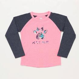 Camiseta Manga Larga Rosa Niña Kelme