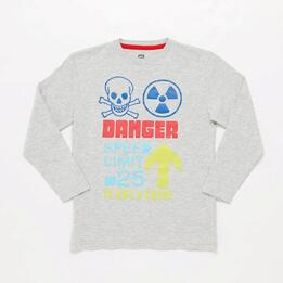 Camiseta Manga Larga Gris Junior Up Stamps