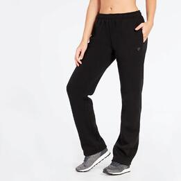 Pantalón Largo Negro Up Basic Felpa Mujer