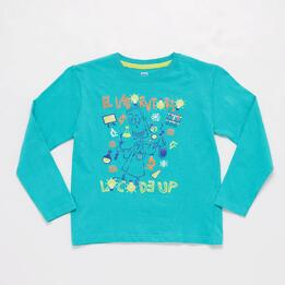 Camiseta Turquesa Niño Up Stamps