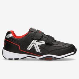 Zapatillas Kelme Velcro Negro Rojo Niño (36-39)