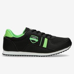 Sneakers Niño Negras Silver (36-39)