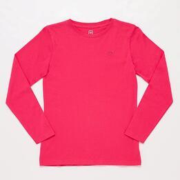 Camiseta Manga Larga Rosa Junior Up Basic
