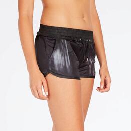 Pantalón Corto Negro Mujer Silver Avance