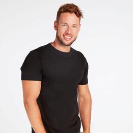 Camiseta Negra Hombre Up Basic