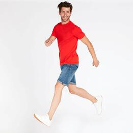 Camiseta Roja Hombre Up Basic