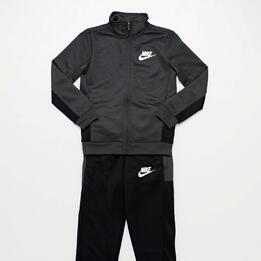Chándal Nike Negro Gris Niño (10-16)