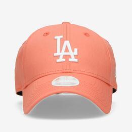 Gorra Beisbol Dodgers Roja Mujer New Era