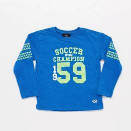 Camiseta Azul Silver Henmark Niño