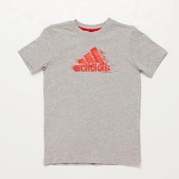 Camiseta adidas Gris Niño (10 16)