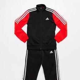 Chándal adidas Negro Rojo Bebé (12m-36m)