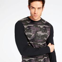 Camiseta Manga Larga Negra Ecko