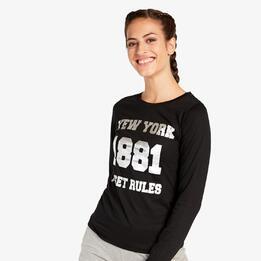 Camiseta Negra Silver Amieva
