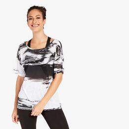 Camiseta Puma Negra Blanca