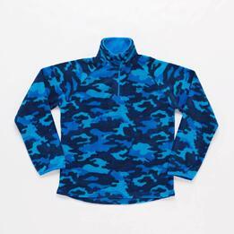 Forro Polar Junior Azul Camuflaje Up Basic