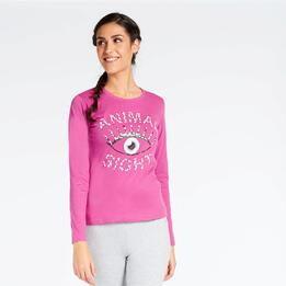 Camiseta Manga Larga Fucsia Up Stamps