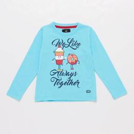 Camiseta Azul Niña Silver Tracksuits
