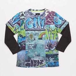 Camiseta Gris Niño Silver Graffitech