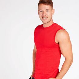 Camiseta Roja Hombre Up Stamps
