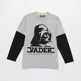 Camiseta Star Wars Niño Gris Negro
