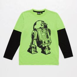Camiseta Star Wars Verde Negro Niño