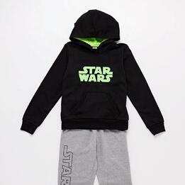 Sudadera Star Wars Negra Verde Niño