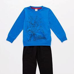 Chandal Spiderman Azul Negro Niño