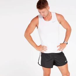 Camiseta Running Nike Blanca Hombre