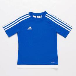 Camiseta adidas Estro 15 Azul Niño