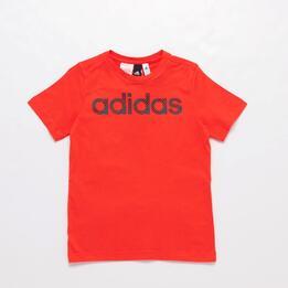 Camiseta adidas Roja Junior