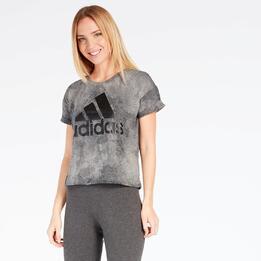 Camiseta Crop adidas Gris