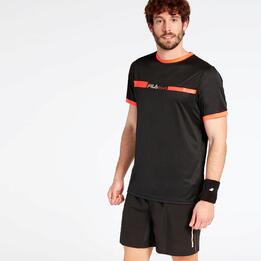 Camiseta Tenis Fila Training Negra