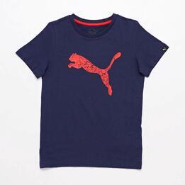 Camiseta Puma Azul Marino Jr