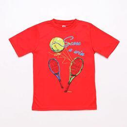 Camiseta Tenis Roja Proton Niño