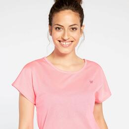 Camiseta Rejilla Rosa Up Basic
