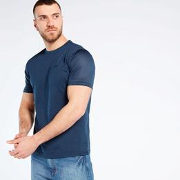 Camiseta Rejilla Azul Up Basic