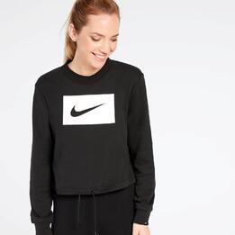 Sudadera Crop Nike Negra
