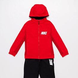 Chándal Nike Rojo Negro Jr