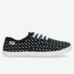 Zapatillas Lona Negras Up Vega