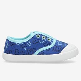 Zapatillas Lona Azules Niño Up Vita