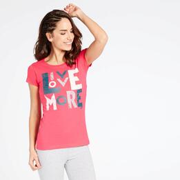 Camiseta Rosa Up Stamps
