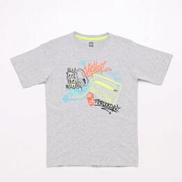 Camiseta Gris Up Stamps Junior
