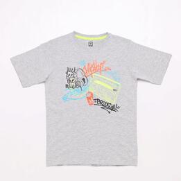 Camiseta Gris Up Stamps Junior